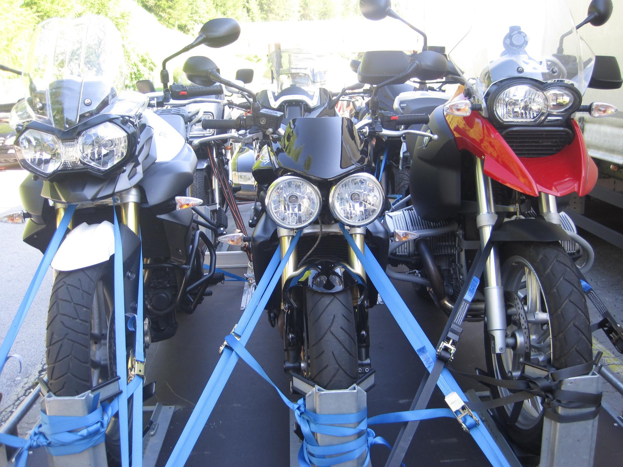 Motorrad-Transport