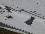 Timmelsjoch: Kehren im Schnee
