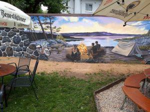 Biergarten Mauerkunst Hotel Zum Schwalbennest