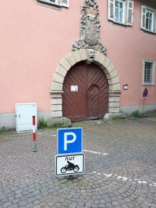 Motorradparkplatz Bad Mergentheim