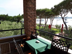 Balkon-Blick Appartment Oliveto Medulin