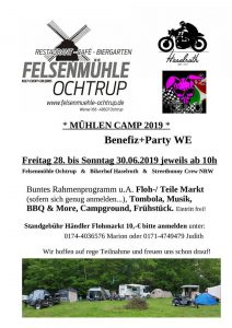 Mühlencamp 2019 (Benefiz- + Party-WE), Ochtrup @ Felsenmühle Ochtrup